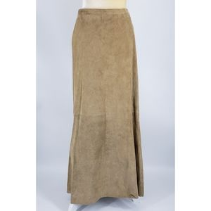 Chico's Suede Jalyn Rawhide Maxi Skirt NEW - 3